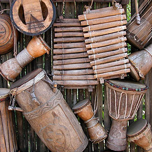 A variety of drums from around the world